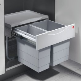 Two compartment waste bin. Hailo Tandem S