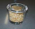 Spice Jar With glass lid for insert to kitchen cutlery