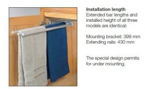 Pull-out towel rack 3 arms - Kitchen Accessories