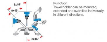 Pull-out towel holder 3 arms - Kitchen Accessories