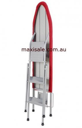 FOLDING IRONING BOARD WITH STEP LADDER