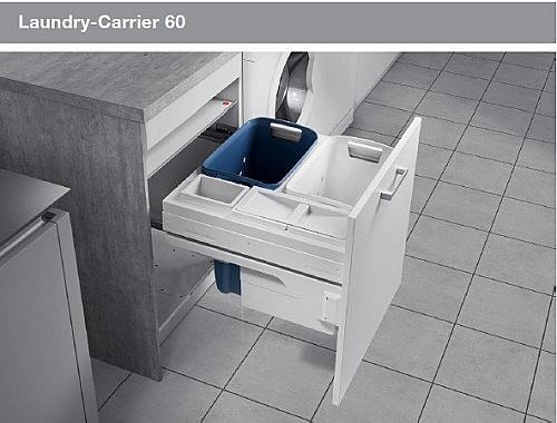 The Hailo Laundry- Carrier offers sufficient space for 2 washing machine loads in its two large capacity 33 litre baskets.